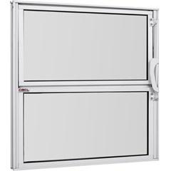 Vitrô Basculante de Alumínio Vidro Mini Boreal Branco Pop 40x40cm - Ebel