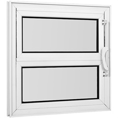 Vitrô Basculante Vidro Mini Boreal Branco 40x40 Cm        - Casanova