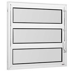 Vitrô Basculante Vidro Mini Boreal Branco 60x80 Cm         - Casanova