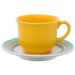 Xícara de Café  de 75 Ml com Pires 12cm Daily Bilro - Oxford