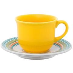 Xícara de Chá  de 200 Ml com Pires 15cm Daily Bilro - Oxford