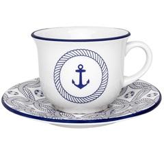 Xícara de Chá  de 200 Ml com Pires 15cm Daily Nautico  - Oxford