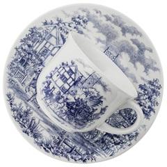 Xícara de Chá de 200 Ml com Pires 16,5cm Biona Cena Inglesa - Oxford