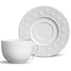 Xícara de Chá Manish Branco - Porto Brasil Cerâmica