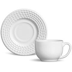 Xícara de Chá Olimpia Branco 160ml  - Porto Brasil Cerâmica