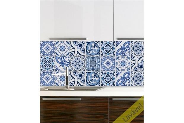 Adesivo para Azulejo Valença com 16 Unidades 15x15cm       - Dona Cereja