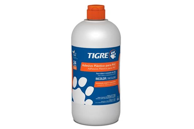 Adesivo pl stico para pvc incolor frasco 850g tigre c c for Plastico pvc para estanques