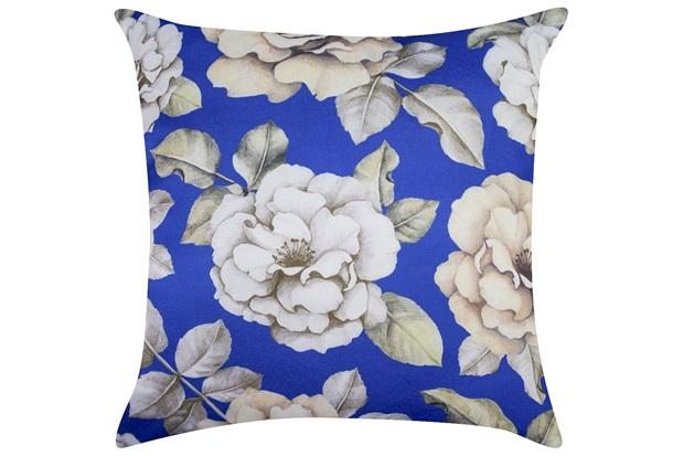 Almofada Digital Rosas Azul 45x45cm  - Madritex