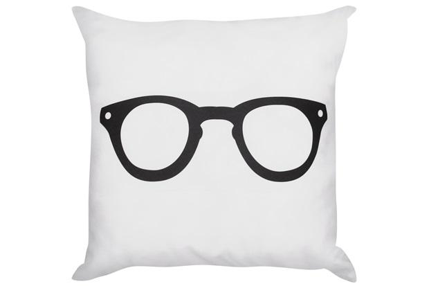 Almofada Temática Óculos Branca 45x45cm - Combinatta