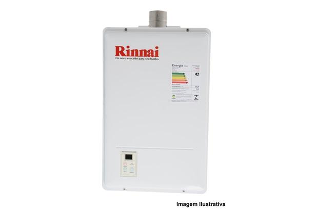 Aquecedor de Agua a Gás Reu 1302 Gn 17 Litros Branco Bivolt - Rinnai