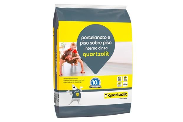 Argamassa Colante Piso Sobre Piso Interno Cinza 20kg - Quartzolit