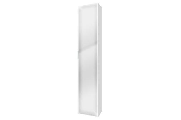 Armário de Banheiro Vertical Blu Mdf 1 Porta Branco 160x30cm  Bumi  C&C -> Armario De Banheiro Bumi