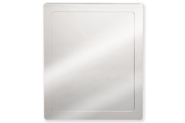 Armário em Aço Inox com Espelho Prata 40x50cm Ref Pr440  H Chebli  C&C -> Armario Banheiro Aco Inox