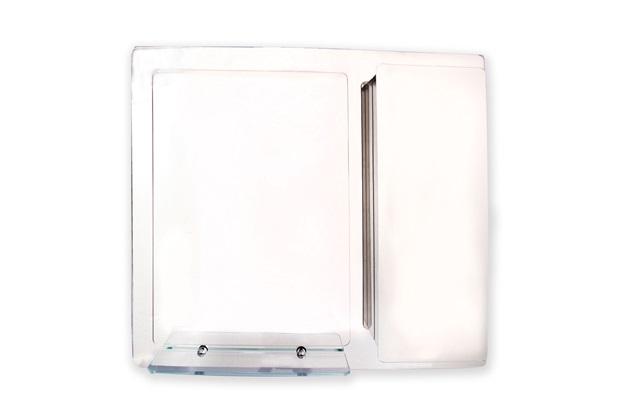 Armário em Aço Inox com Espelho Prata 74x65cm Ref Pr590  H Chebli  C&C -> Armario Banheiro Aco Inox