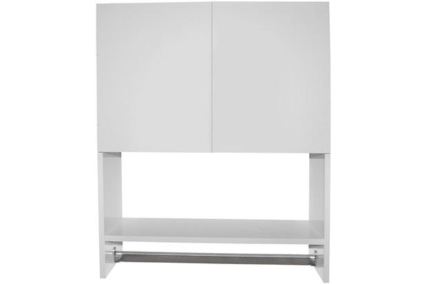 Armário Multiuso em Mdf Sicflex 2 Portas Branco  Sicmol  C&C -> Armario De Banheiro Cec