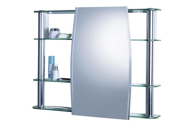 Armário para Banheiro de Sobrepor com Espelho Slip 62x64cm Cromado  Cris Met -> Armario De Banheiro De Sobrepor Com Espelho
