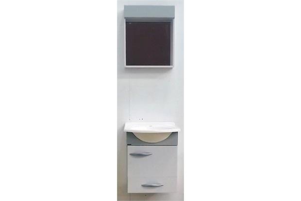 Armário para Banheiro E Toucador Conjunto Belle BrancoCinza  Bonatto  C&C -> Armario Banheiro Bonatto
