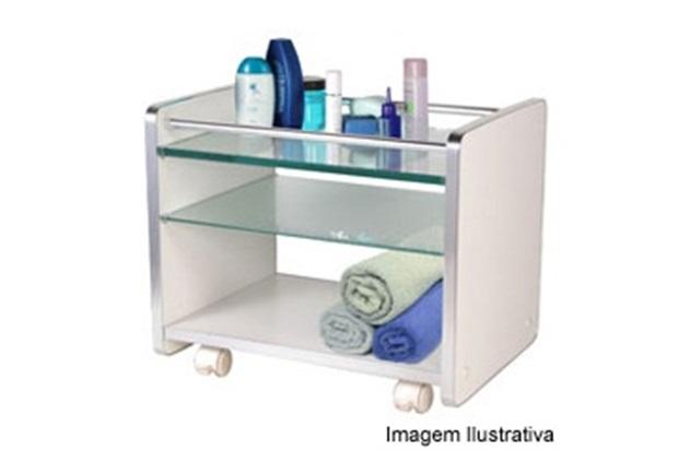 Armário para Banheiro Estilo Carrinho Branco 200  Cris Metal  C -> Armario De Banheiro Cec