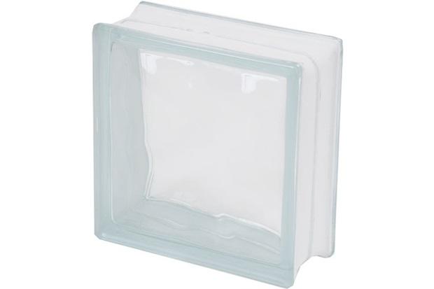 Bloco de Vidro Transparente Ondulado Sky 19x19x8cm - Casanova