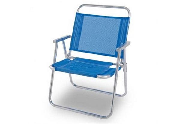 Cadeira de Praia Oversize Alumínio Azul  - Mor
