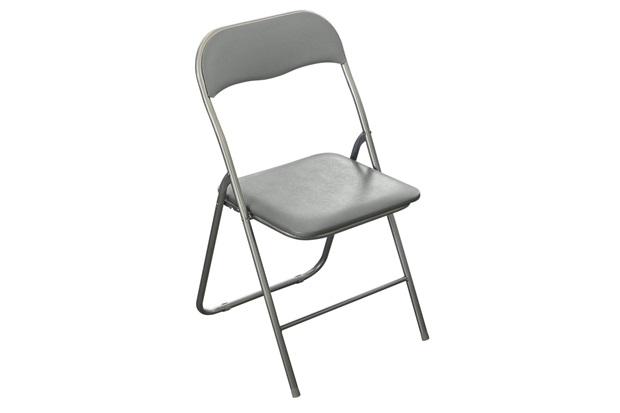 Cadeira Dobrável Cinza  - Casanova