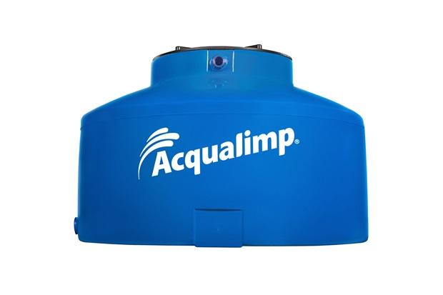 Caixa d 39 gua gua protegida azul 500 litros sem acess rios for Estanque agua 500 litros