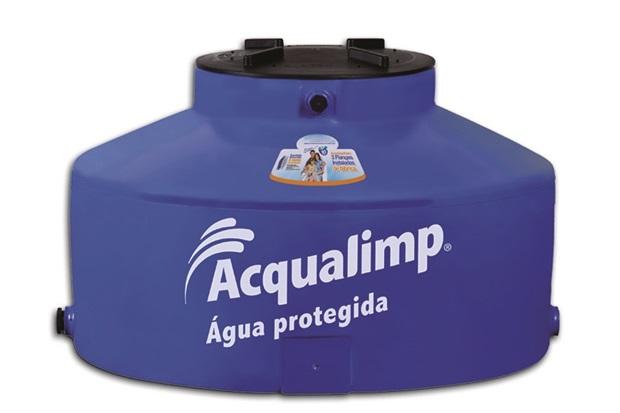 Caixa D'Água Água Protegida Azul  - Acqualimp