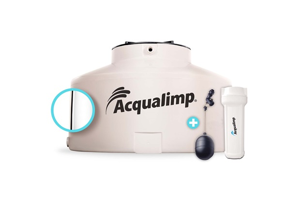 Caixa D'Água Bege Água Limpa de 2.500 Litros com Acessórios  - Acqualimp
