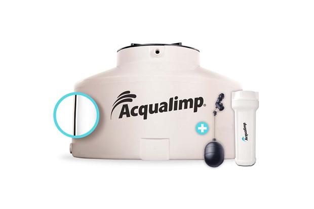 Caixa D'Água em Polietileno Água Limpa com 2 Acessórios 1000 Litros Bege - Acqualimp