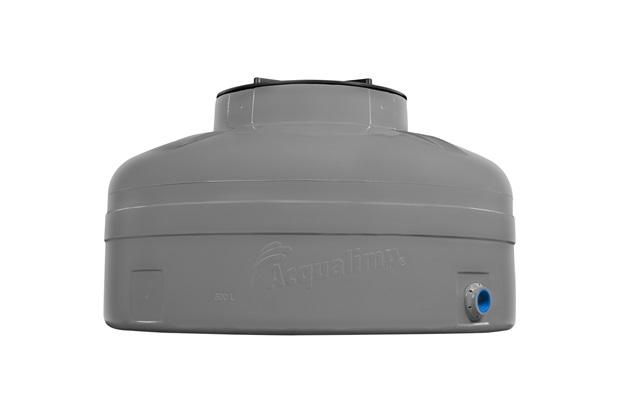 Caixa D'Água Fácil Instalação 500 Litros Cinza - Acqualimp