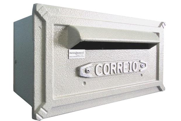 Caixa de Correio Alumínio Turquesa Ref: 251         - Prates & Barbosa