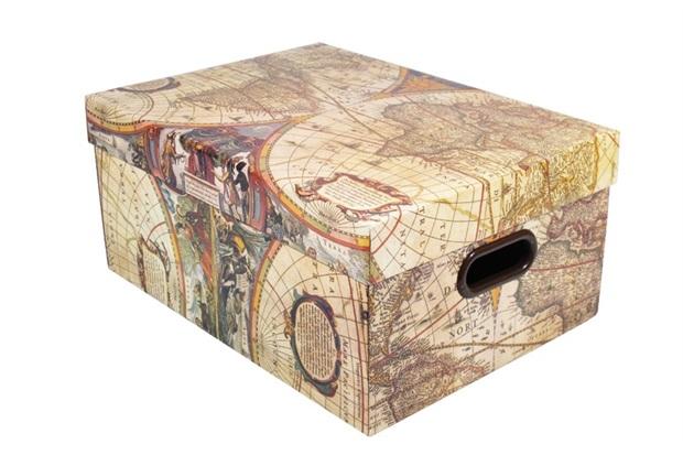 Caixa Organizadora Closet Mundi Grande 42 X 30,5 X 20 Cm - Boxgraphia