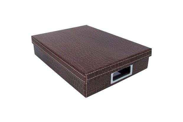 Caixa Organizadora Dandy 7x45cm Marrom - Boxgraphia