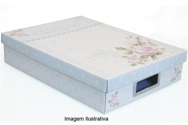 Caixa Retangular Média Marie 34 X 25 X 7 Cm 1501005 - Boxgraphia