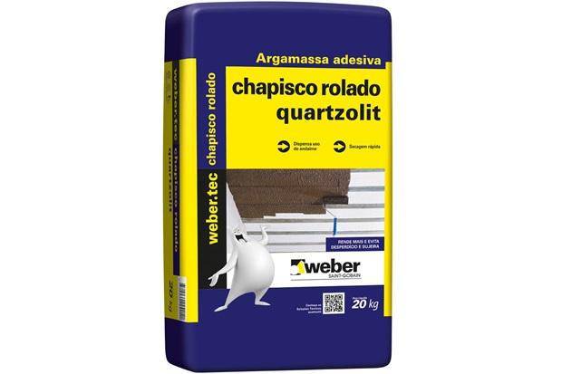 Chapisco Pronto Ibo Rolado 20kg  - Quartzolit