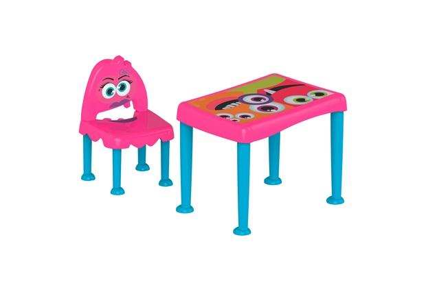 Conjunto de Mesa E Cadeira Monster Infantil Rosa  - Tramontina