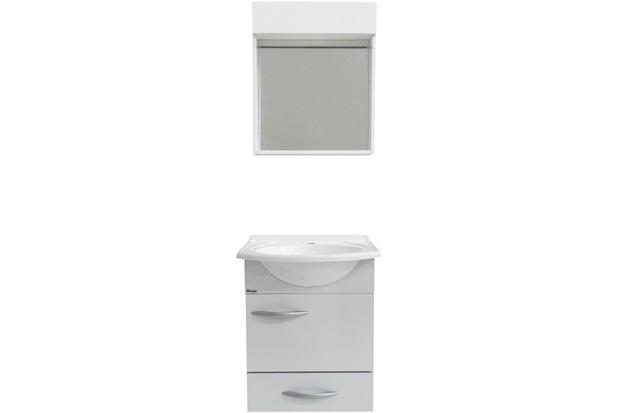 Conjunto de Toucador E Armário Belle 45 Cm Branco  Bonatto  C&C -> Armario De Banheiro Cec