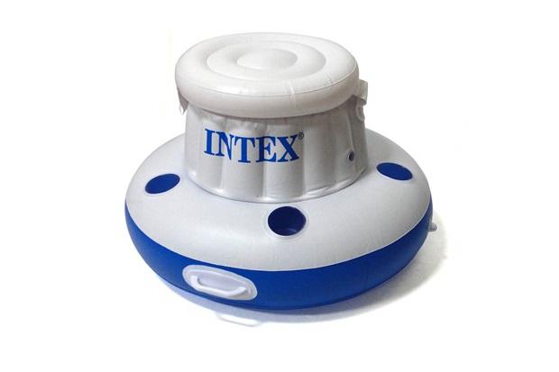 Cooler Inflável para Piscina 24 Latas Branco E Azul - Intex