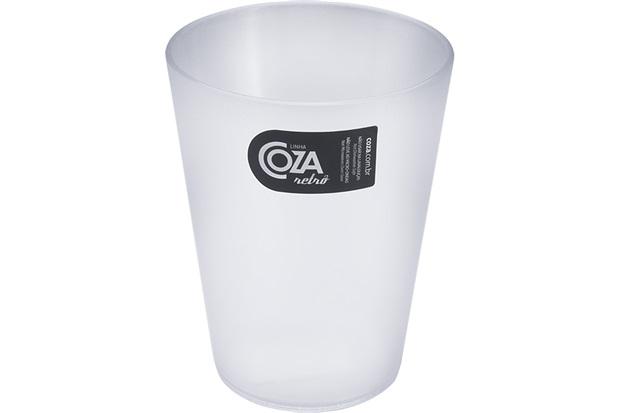Copo de Plástico Retrô Transparente 300ml  - Coza