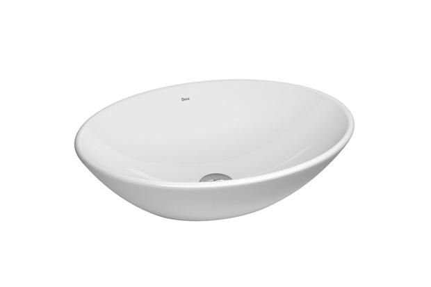Cuba de Apoio Oval Branca 50x37cm  Deca  C&C -> Cuba Para Banheiro De Sobrepor Oval Branca Icasa