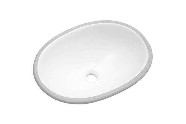 Cuba Oval de Embutir 49x36cm Branca Il600  Icasa  C&C -> Cuba Para Banheiro De Sobrepor Oval Branca Icasa