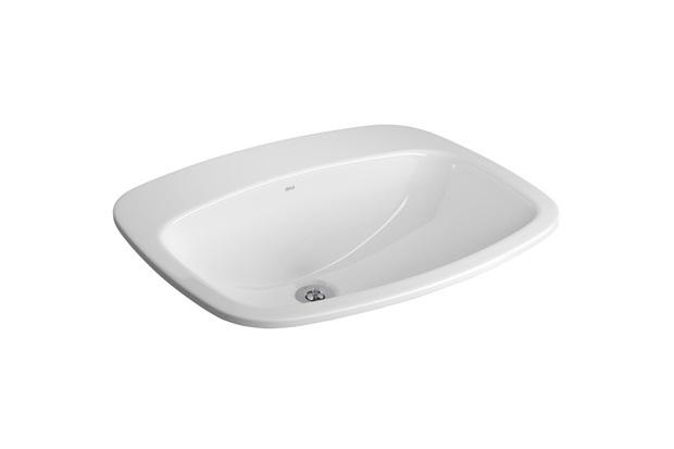 Cuba Sobrepor Retangular Branco Gelo L43  Deca  C&C -> Cuba Para Banheiro Celite