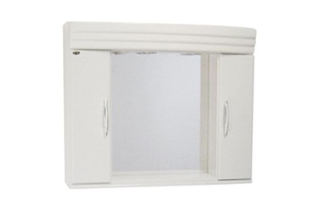 Espelheira Bari 100cm com Armário Branco  Corso  C&C -> Armario De Banheiro Cec