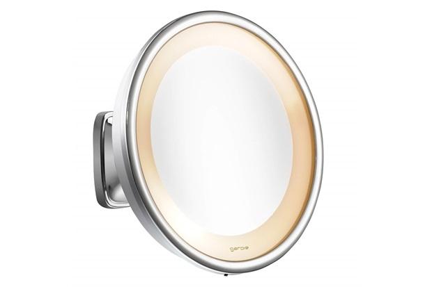Espelho de Aumento de Parede com Iluminação Cromado 110v - Crysbell