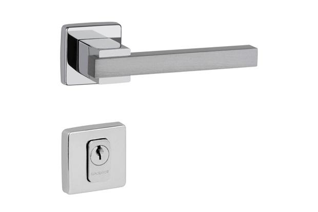 Fechadura Dudu Externa 55mm Cromado Alumínio Acetinado Escovado - Lockwell