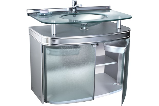 Gabinete com Tampo E Cuba Crismaster 80cm  Cris Metal  C&C -> Gabinete De Banheiro Tampo De Vidro