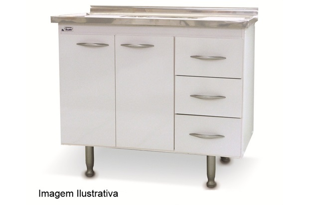Gabinete Milano para Pia 1,20cm  Bonatto  C&C -> Gabinete De Banheiro Bonatto