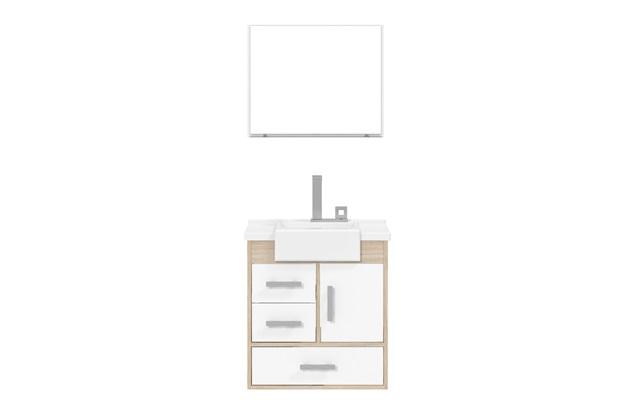 Novo R 200 Banheiro Gabinete Kit Viena 100 Mdf Laqueado Novo Pictures to pin  -> Armario De Banheiro Cec