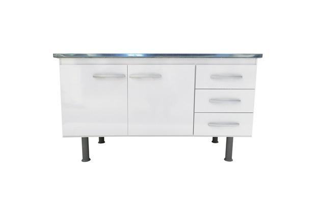 Gabinete para Cozinha em Mdf Sonic 150cm Branco - Bonatto
