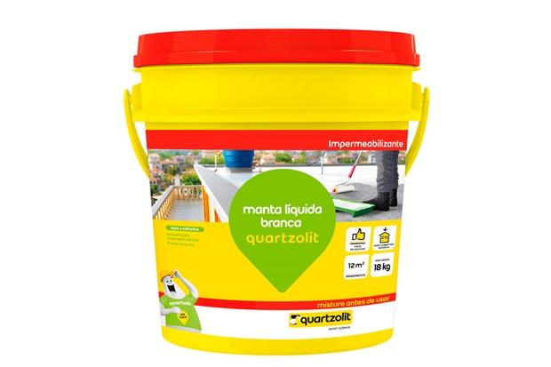 Impermeabilizante manta l quida branca 18kg quartzolit c c - Impermeabilizante para paredes ...
